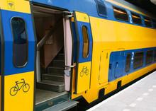 Dutch Train  At Eindhoven Railway Station