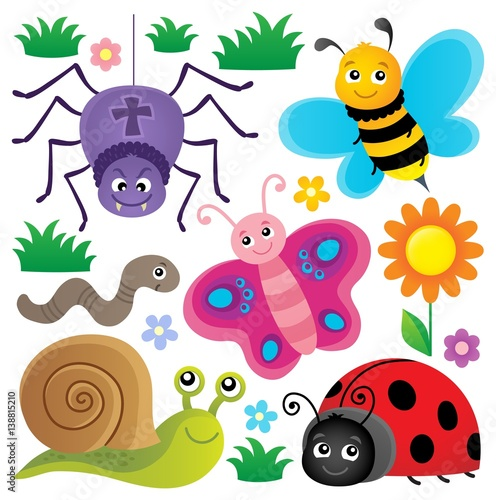 spring-animals-and-insect-theme-set-3