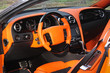 Car interior luxury service. Car interior details. View of the interior of a modern automobile showing the dashboard