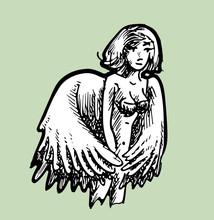 Engel Met Ingeklapte Vleugels