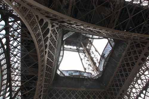 Valokuva  Eiffel tower view from below. Paris France