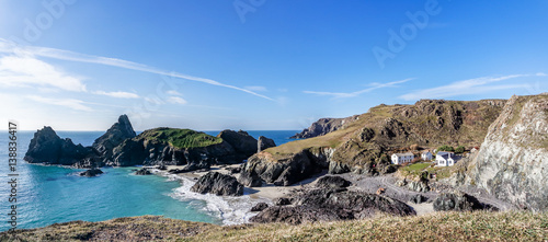 Slika na platnu Kynance Cove on the Lizard Peninsula Cornwall