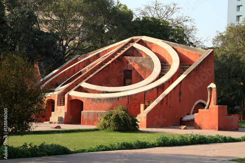 Tuinposter Delhi Jantar Mantar Architectural Astronomy Instrument, New Delhi, India