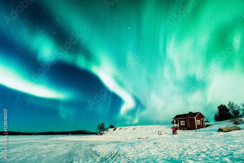 Keuken foto achterwand Noorderlicht Aurora borealis