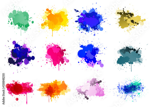 Deurstickers Vormen Colorful paint splatters