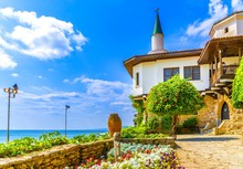 Balchik Palace Castle Of Romanian Queen Marie At Bulgarian Black Sea Coast