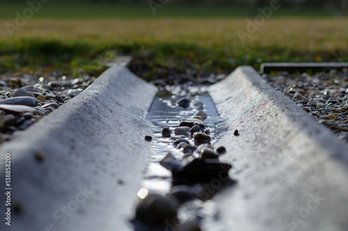 Wasserrinne Im Garten Buy This Stock Photo And Explore Similar
