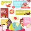 Japan Retro Cartoon Infographics