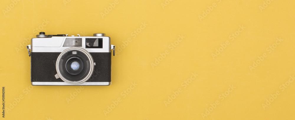 Fototapety, obrazy: retro photography camera on colored background