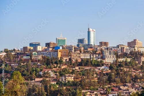 Fotografia Panoramic view at the city bussiness district of Kigali, Rwanda, 2016