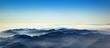 Leinwanddruck Bild - aerial of mountain ridge od Los Angeles valley