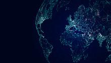 Globe International Network, Sci-fi World Map Background