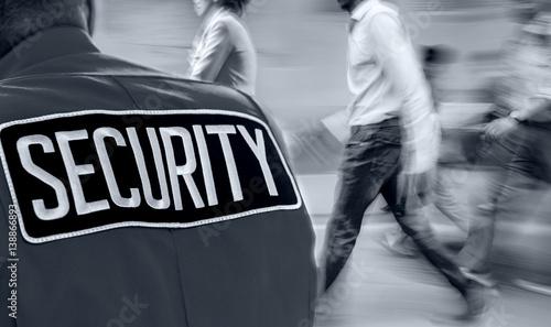 Fotografie, Obraz  label on guard uniform in monochrome blue tonality