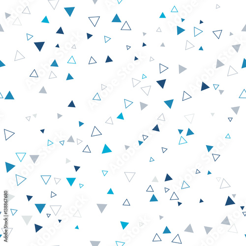 Seamless bright pattern of geometric shapes on a white background.