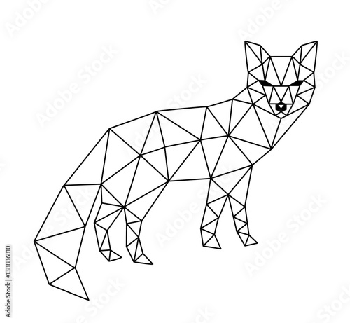 polygonal fox Wallpaper Mural