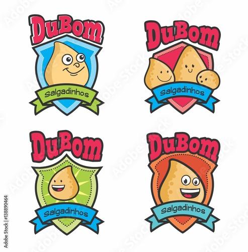 logo set logos logos salgados salgadinhos desenho salgadinhos