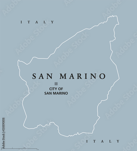 City Map Of Italy In English.Most Serene Republic Of San Marino Political Map With Capital City