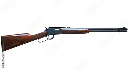 Old American wild west rifle on white background Canvas-taulu