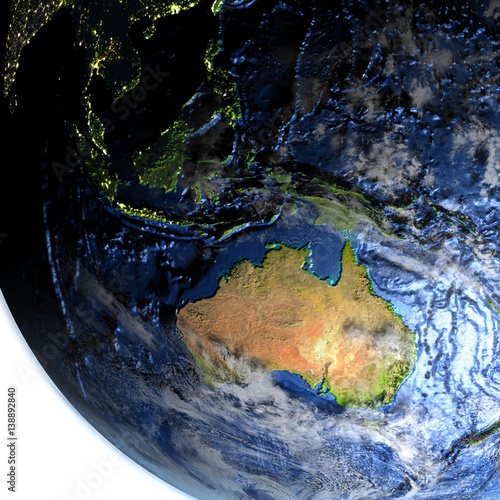 Australia On Earth Visible Ocean Floor Kaufen Sie Diese
