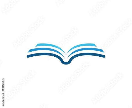 Fotografie, Obraz  Book logo