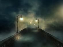 Fantasy Bridge In The Fog