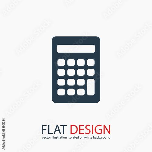 Cuadros en Lienzo  calculator icon, vector illustration. Flat design style