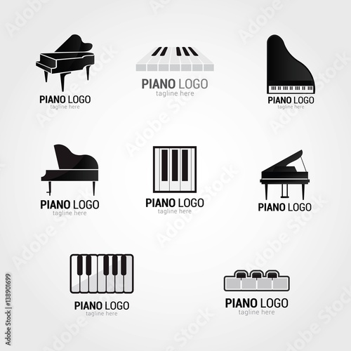 Fotografie, Obraz  Piano Logo Design Template. Vector Illustration
