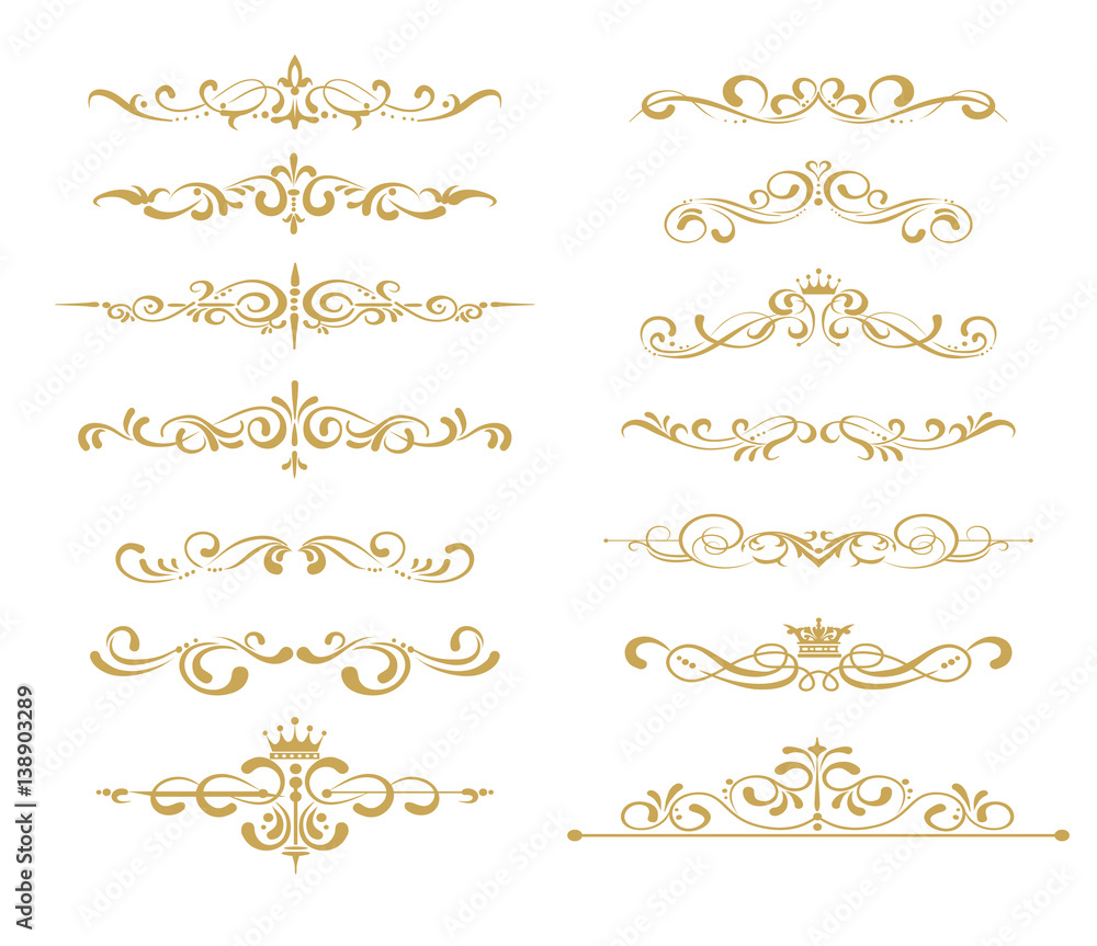 Fototapety, obrazy: Gold element vector