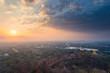 Beautiful sunrise over Mandalay city at Mandalay hill, Myanmar
