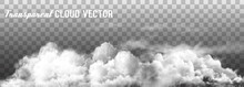 Clouds Vector On Transparent B...