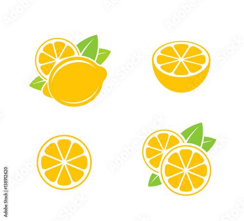 Fotografie, Obraz  Lemon. Citrus fruit on white background