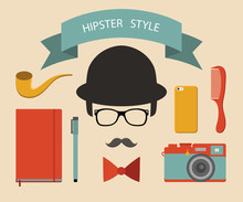 Vector Set Of Hipster Elements...