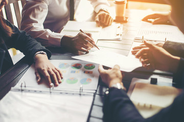 Naklejka Business People Meeting Design Ideas Concept. business planning