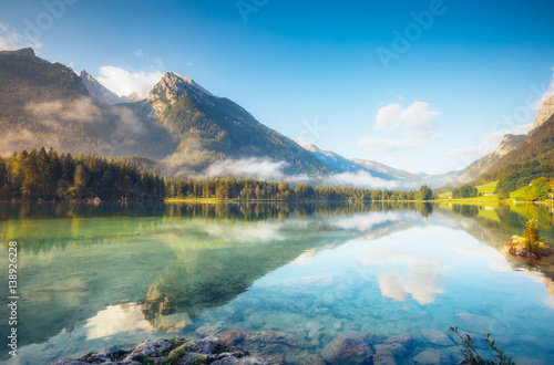 Spoed Foto op Canvas Meer / Vijver beautiful alpine lake