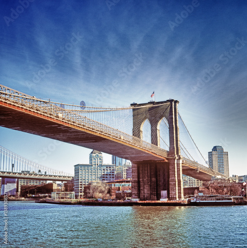 In de dag Brooklyn Bridge Brooklyn Bridge.