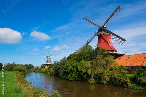 Aluminium Prints Mills Windmühlen von Greetsiel/Deutschland