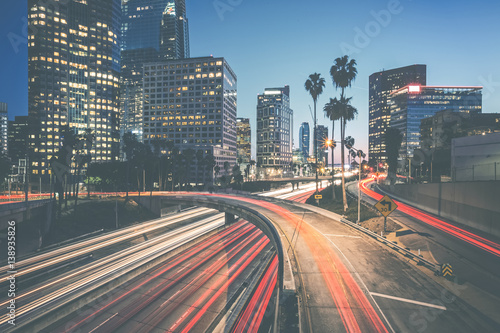 Downtown Sunset - Los Angeles Fototapete
