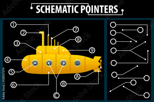 Schematic pointers. Extension lines to indicate the details of the on submarine door, tench class submarine diagram, submarine line diagram, submarine concept diagram, submarine ballast systems, submarine control room diagram, nuclear submarine diagram, submarine bridge, submarine underwater, ww2 submarine diagram, submarine diagram with labels, ohio class submarine diagram, labeled diagram, wwii submarine diagram, submarine seaview schematics, seawolf class submarine diagram, submarine layout, submarine surfacing, submarine large shark, submarine parts diagram,