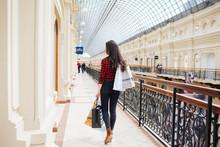 Beautiful Girl On Shopping In Europe