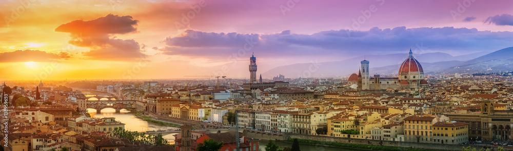 Fototapety, obrazy: Sommerliches Florenz