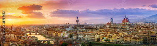 Canvas Prints Honey Sommerliches Florenz