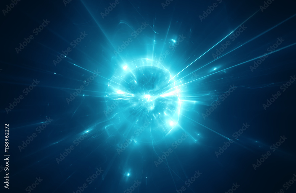 Fototapety, obrazy: Abstract blurry explosion background