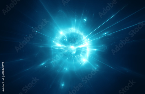 Fotografia  Abstract blurry explosion background