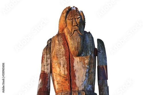 Photo  Norse God Odin isolated on white background