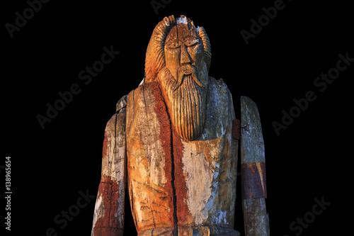 Photo  Norse God Odin isolated on black background