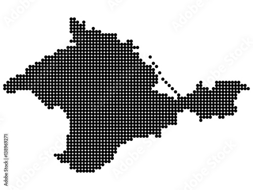Abstract map of Crimea from round dots. Ukraine (de jure ... on russia and baltic sea map, little russia map, russia and crimea, russia v ukraine, russia and caucasus map, russia and switzerland map, crimea russia map, russia map with cities and rivers, russia and byzantine empire map, russia and northern europe map, russia taking over ukraine, russia vs ukraine, russia and former soviet union map, russia and philippines map, russia on map of russian federation, russia and france map, russia before russian revolution map, russia invaded ukraine, russia and norway map,