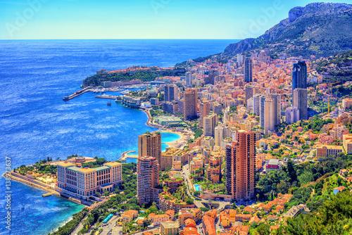 Monaco and Monte Carlo, Cote d'Azur, Europe Wallpaper Mural
