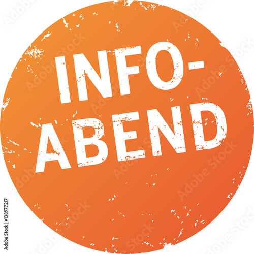 Button zerkratzt Info-Abend orange Canvas Print