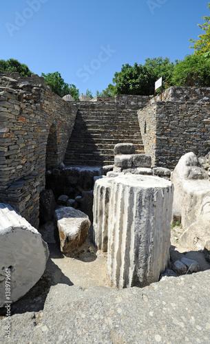 Foto op Aluminium Rudnes Ruines du mausolée du roi Mausole à Bodrum en Anatolie