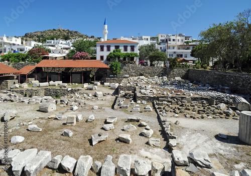 Foto op Aluminium Rudnes Les ruines du mausolée du roi Mausole à Bodrum en Anatolie